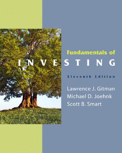 Fundamentals of Investing (11th Edition) (MyFinanceLab Series): Lawrence J. Gitman,