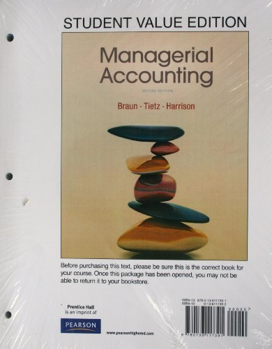 9780136117391: Managerial Accounting, Student Value Edition (2nd Edition)