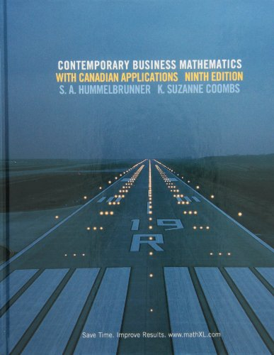 9780136118411: Contemporary Business Mathematics with Canadian Applications