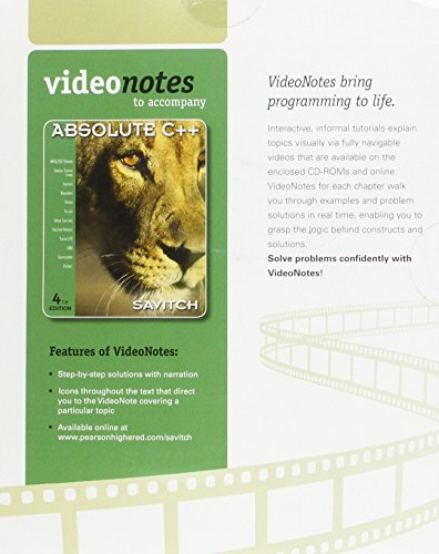 9780136118831: VideoNotes on CD for Absolute C++