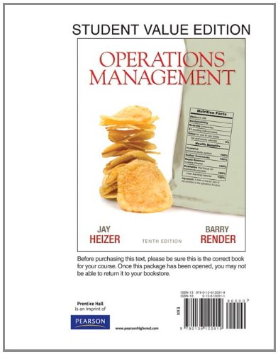 9780136120919: Operations Management, Student Value Edition (10th Edition)