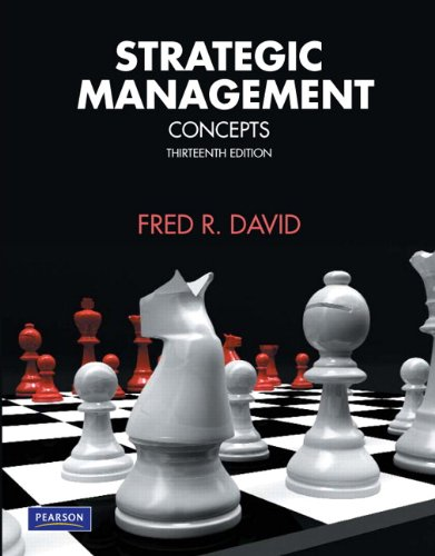 strategic management kindle Access strategic management 15th edition solutions now our solutions are written by chegg experts so you can be assured of the highest quality.