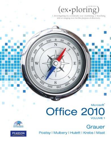 9780136122326: Exploring Microsoft Office 2010, Vol. 1 (Book & CD)