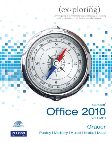 9780136122326: Exploring Microsoft Office 2010, Vol. 1 (Book & CD)
