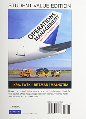 9780136123699: Operations Management, Student Value Edition (9th Edition)