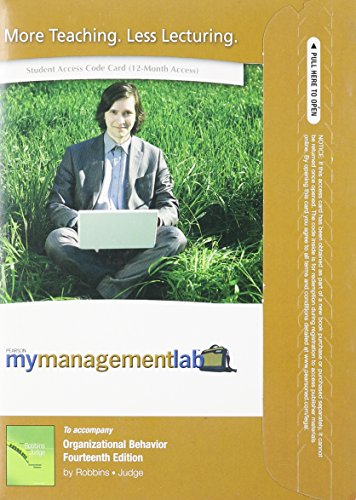 9780136124405: MyManagementLab with Pearson eText -- Access Card -- for Organizational Behavior