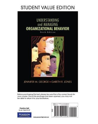 9780136124498: Understanding and Managing Organizational Behavior, Student Value Edition (6th Edition)