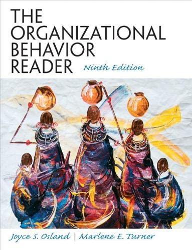 9780136125518: The Organizational Behavior Reader
