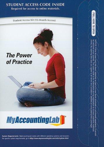 9780136125600: MyAccountingLab -- Standalone Access Card (MyAccountingLab (Access Codes))