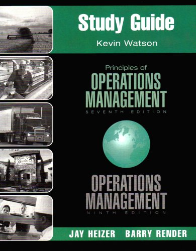 principles of operations management eighth edition answers Principles of operations management, 9/e presents a broad introduction to the field of operations in a realistic and practical manner, while offering the largest and most diverse collection of problems on the market the problems found in this text also contain ample support—found in the book's solved-problems and worked examples.