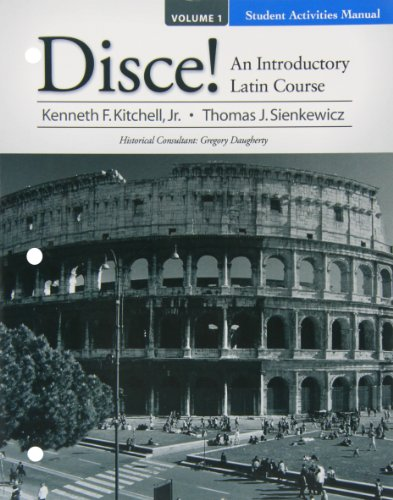 9780136126263: Student Activities Manual for Disce! An Introductory Latin Course, Volume I