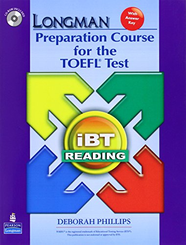9780136126591: Longman Preparation Course for the TOEFL Test: iBT Reading (with CD-ROM and Answer Key) (No audio required)