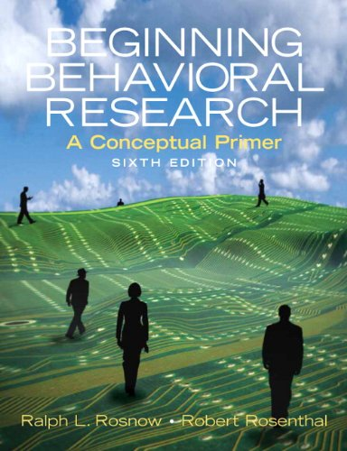 9780136128755: Beginning Behavioral Research: A Conceptual Primer