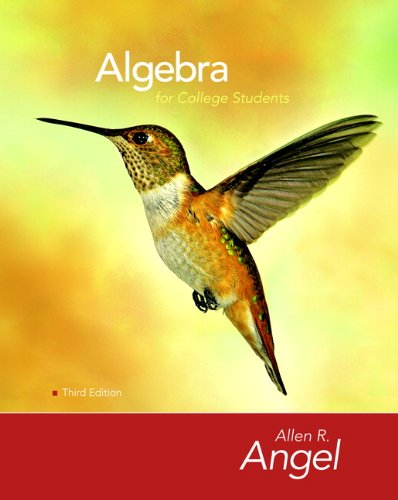 9780136129080: Algebra for College Students (3rd Edition
