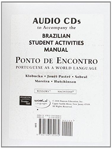9780136130062: European SAM Audio for Ponto de Encontro: Portuguese as a World Language