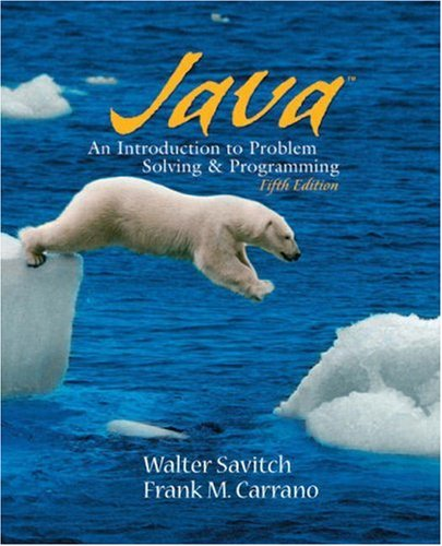 9780136130888: Java: Introduction to Problem Solving and Programming (5th Edition)