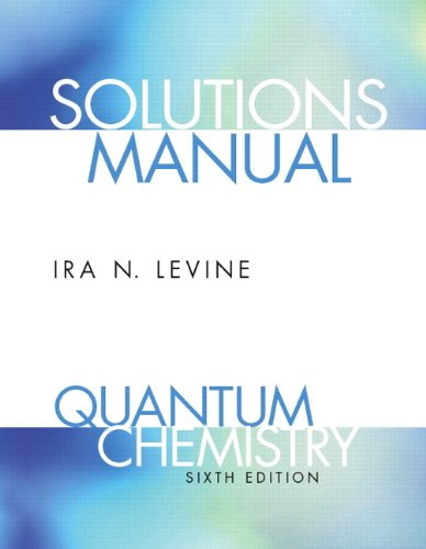 9780136131076: Student Solutions Manual for Quantum Chemistry