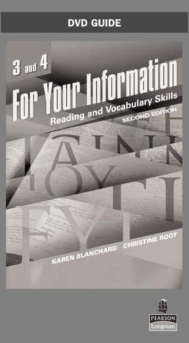 For Your Information Format: DvdRom: Blanchard, Karen^Root, Christine