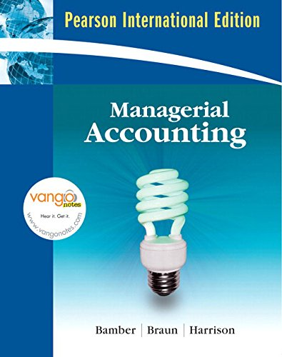 9780136132844: Managerial Accounting