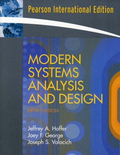 9780136132967: Modern Systems Analysis and Design