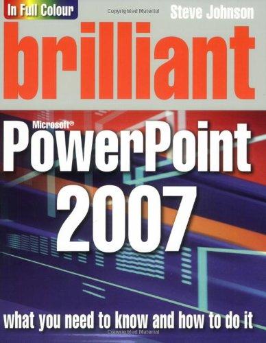 9780136137030: Brilliant Powerpoint 2007