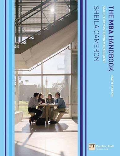 9780136138730: The MBA Handbook: Skills for Mastering Management