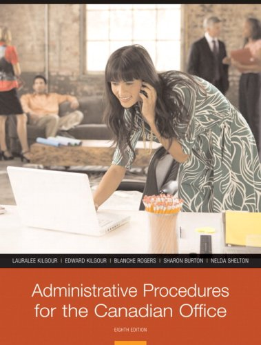 9780136139119: Administrative Procedures for the Canadian Office, Eighth Canadian Edition (8th Edition)