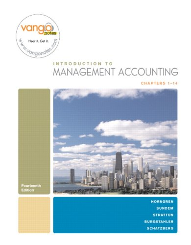 Introduction to Management Accounting, Chapters 1-14 (14th: Horngren, Charles T.,