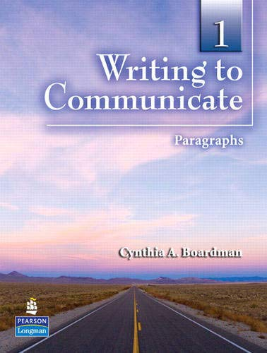 9780136141914: Writing to Communicate 1: Paragraphs