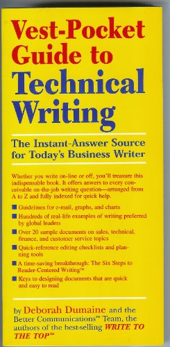 9780136142645: Vest-Pocket Guide to Business Writing: The Instant-Answer Source for Today's Business Writer