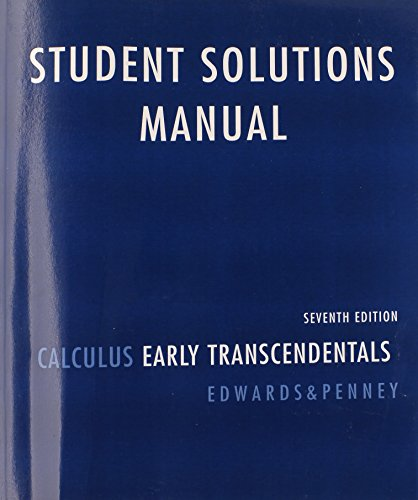 9780136147060: Student Solutions Manual for Calculus: Early Transcendentals