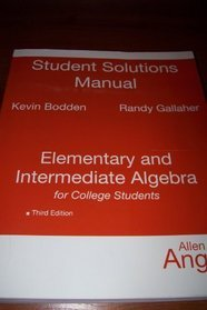 9780136147770: Student Solutions Manual for Elementary and Intermediate Algebra for College Students