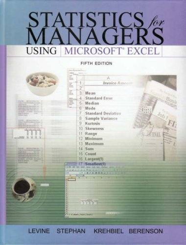 Statistics for Managers Using Microsoft Excel and: David M. Levine;