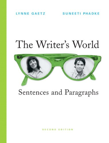 9780136151937: The Writer's World: Sentences and Paragraphs (2nd Edition)