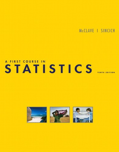 9780136152590: A First Course in Statistics