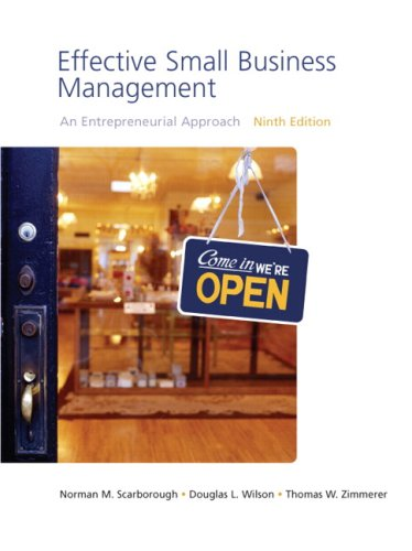 9780136152705: Effective Small Business Management: An Entrepreneurial Approach