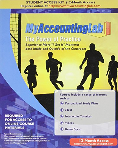 9780136154785: MyAccountingLab with Pearson EText - Access Card