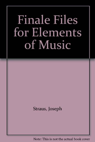 9780136155072: Finale Files for Elements of Music