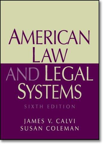 9780136155539: American Law and Legal Systems (6th Edition)