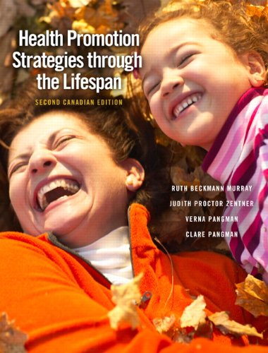9780136156017: Health Promotion Strategies through the Lifespan, Second Canadian Edition (2nd Edition)