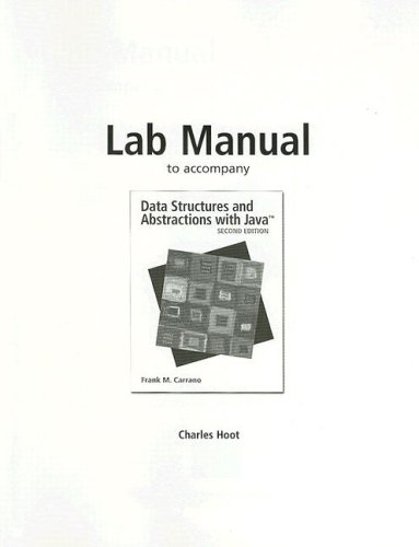 9780136156192: Data Structures and Abstractions with Java: Lab Manual