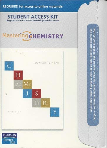 9780136156635: MasteringChemistry, Student Access Kit for Chemistry