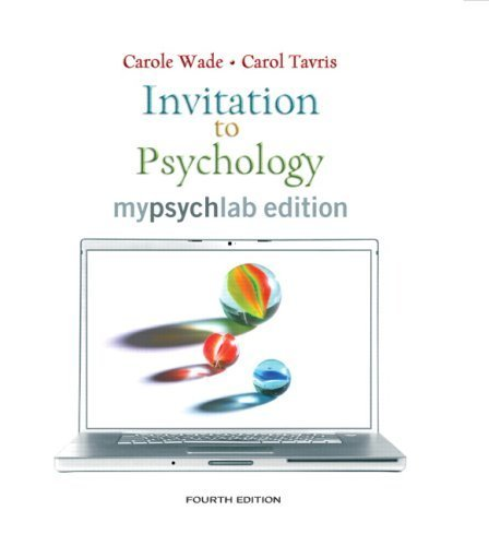 9780136158608: Invitation to Psychology