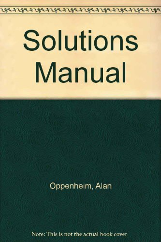 9780136169390: Solutions manual, Signals & systems, 2nd edition