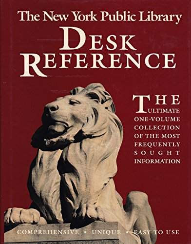 9780136204442: New York Public Library Desk Reference