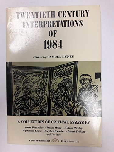 9780136226055: Twentieth Century Interpretations of 1984: A Collection of Critical Essays