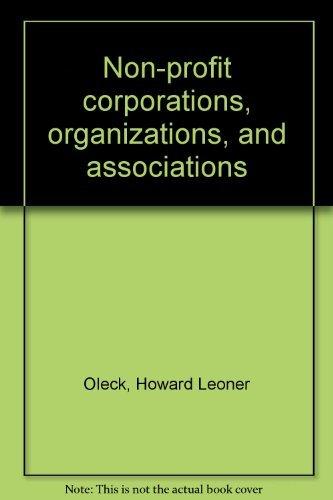Non-profit corporations, organizations, and associations: Howard Leoner Oleck