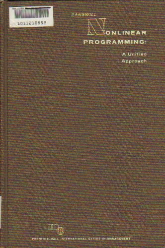 9780136235798: Nonlinear Programming: A Unified Approach (Prentice-Hall International Series in Management)