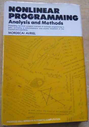 9780136236030: Nonlinear Programming: Analysis and Methods (Prentice-Hall series in automatic computation)