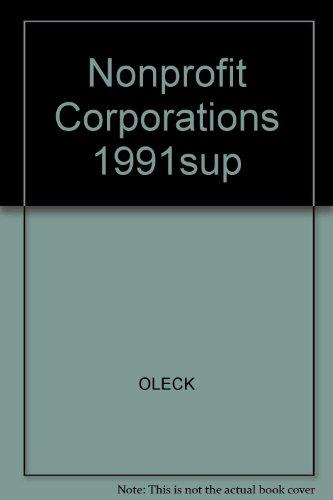 9780136269465: Nonprofit Corporations 1991sup